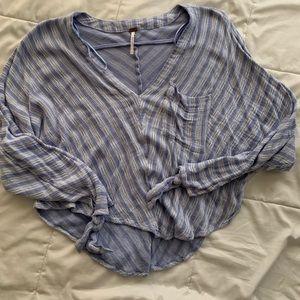 Free people crop blouse